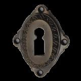 Rosette mit Buntbart Schlüsselloch A4301BB (Stückpreis)