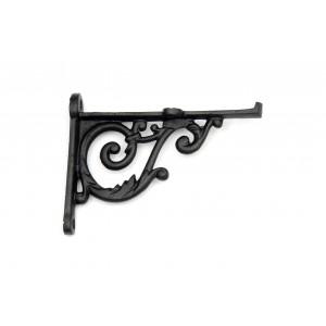 Wandwinkel antik, verzierter Regalträger aus Eisen handgefertigt | EW023 | Ventano