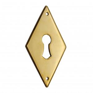 Schlüsselschild aus Messing in Form einer Raute