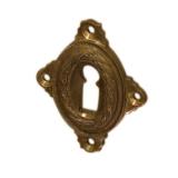 Rosette mit Buntbart Schlüsselloch A4711BB (Stückpreis)