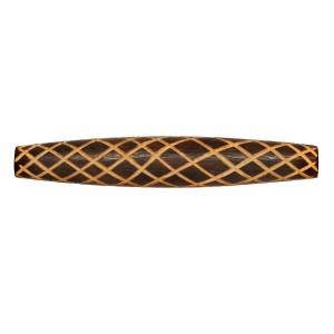 Griffhülse aus Holz, Echtholz mit handgearbeiteten Rillen